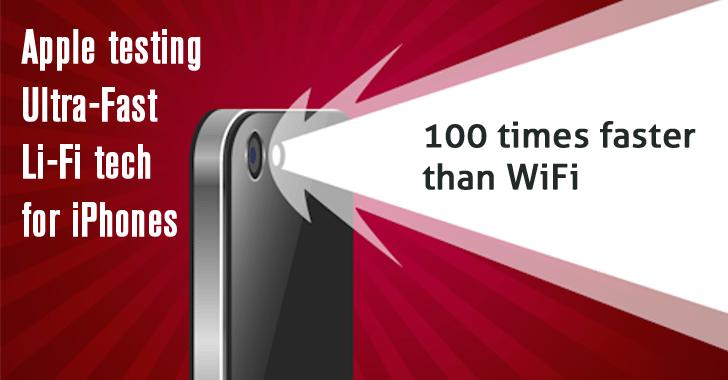 apple iphone 100x faster lifi-wireless