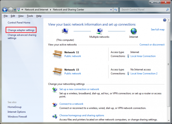 Huawei Modem Adapter Binding Settings in Windows XP, 7 & 8