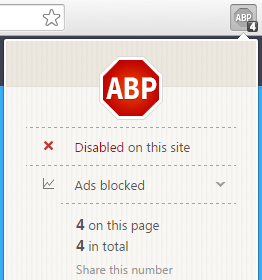 U4M in Whitelist of AdBlock Plus